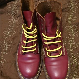 Men's Cherry Red Dr Martins 8 hole Size 12 (US)